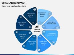 Circular Roadmap PPT Slide 14