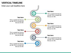 Vertical Timeline PPT Slide 23
