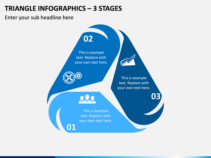 Triangle Infographics – 3 Stages PPT Slide 1