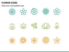 Flower Icons PPT Slide 4