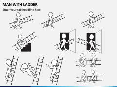 Man with Ladder PPT Slide 3