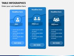 Table Infographics PPT Slide 16