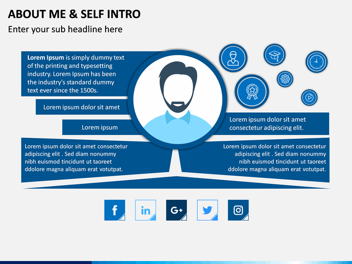 About Me  Self Intro Powerpoint Template