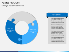 Puzzle pie chart PPT slide 4