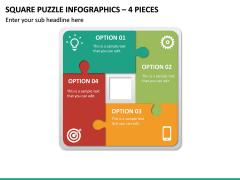 Square Puzzle Infographics – 4 Pieces PPT Slide 2