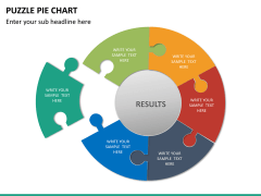 Puzzle pie chart PPT slide 15
