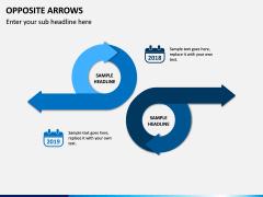 Opposite Arrows PPT Slide 5