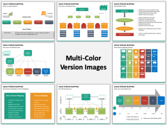 Value stream mapping multicolor combined