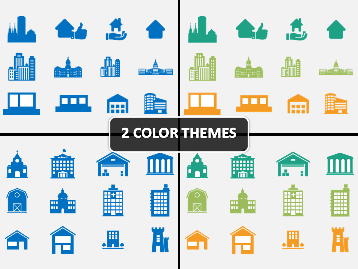 Building Icons PPT Cover Slide