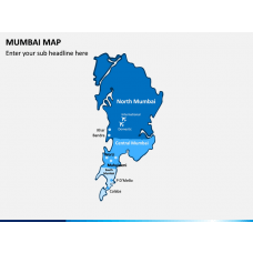 Mumbai Map PPT Slide 1
