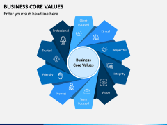 Business Core Values PPT Slide 1