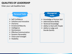 Qualities of Leadership PPT Slide 13