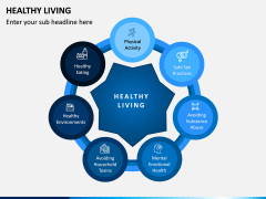 Healthy Living PPT Slide 1
