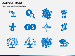 Cash Cost Icons PPT Slide 3