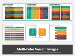 Business Planning Model Multicolor Combined