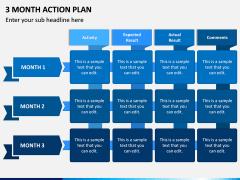 3 Month Action Plan PPT Slide 1