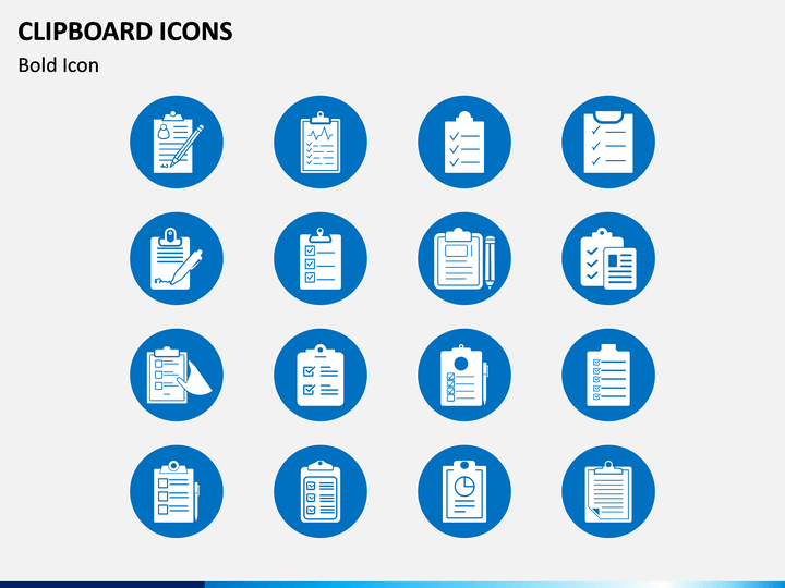 Clipboard Icons PPT Slide 1