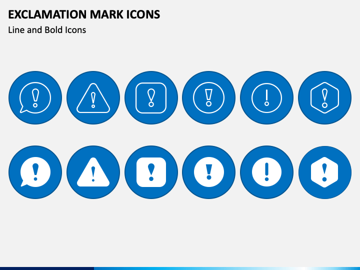 Exclamation Icons PPT Slide 1