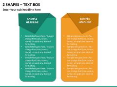 2 Shapes - Text Box PPT Slide 2