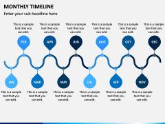 Monthly Timeline PPT Slide 5