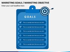 Marketing Goals PPT Slide 1