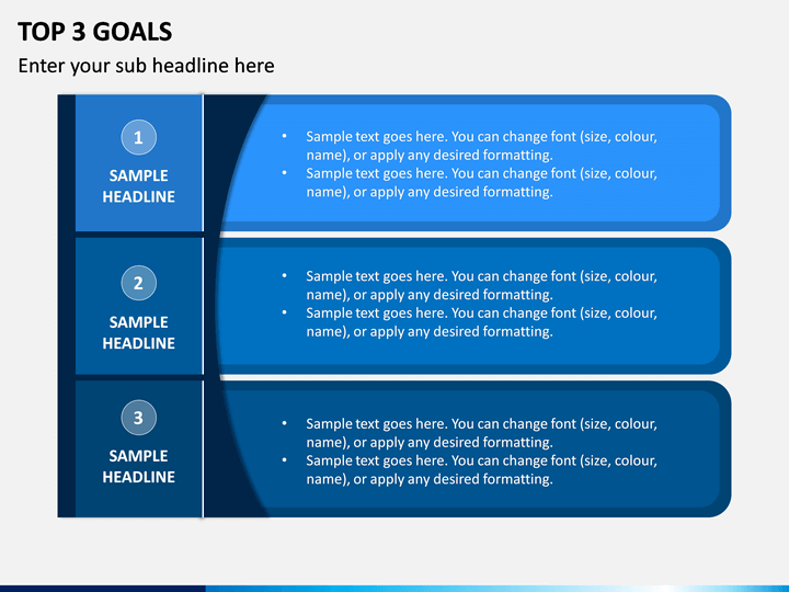Top 3 Goals PPT Slide 1