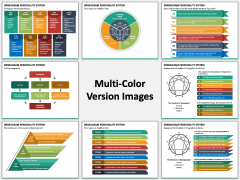 Enneagram Personality System PPT Multicolor Combined