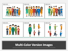 Medical Staff Multicolor Combined