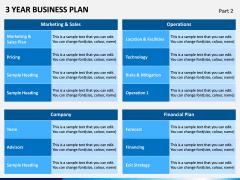 3 Year Business Plan PPT Slide 9