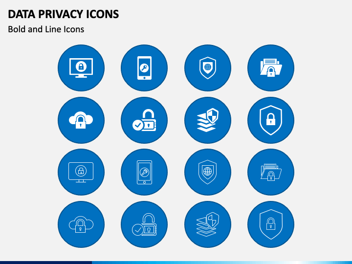 Data Privacy Icons PPT Slide 1