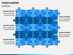 Puzzle Matrix PPT Slide 9
