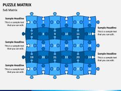 Puzzle Matrix PPT Slide 9