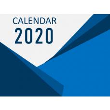 Calendar 2020 - Type 5 PPT Slide 1