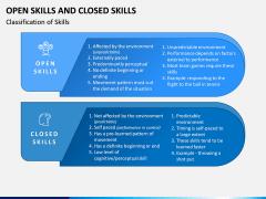Open Skills and Closed Skills PPT Slide 1