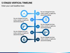 5 Stages Vertical Timeline PPT Slide 1