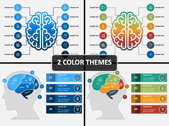 Brain Infographics PPT Cover Slide