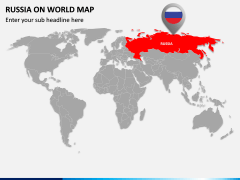Russia on World Map PPT Slide 1