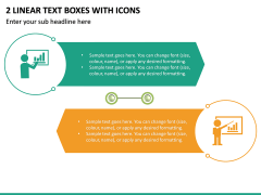 2 Linear Text Boxes With Icons PPT Slide 2