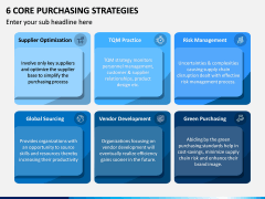 6 Core Purchasing Strategies PPT Slide 1