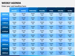 Weekly Agenda PPT Slide 1