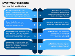 Investment Decisions PPT Slide 6