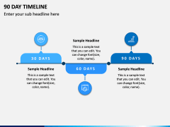 90 Day Timeline PPT Slide 2
