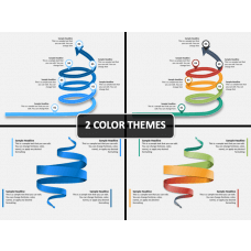 Spiral Arrow Infographics PPT Cover Slide