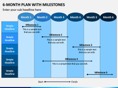6 Month Plan With Milestones PPT Slide 6