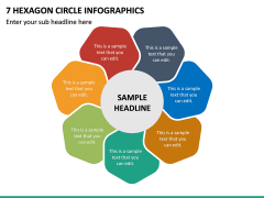 7 Hexagon Circle Infographics PPT Slide 2