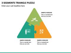 3 Segments Triangle Puzzle PPT Slide 2
