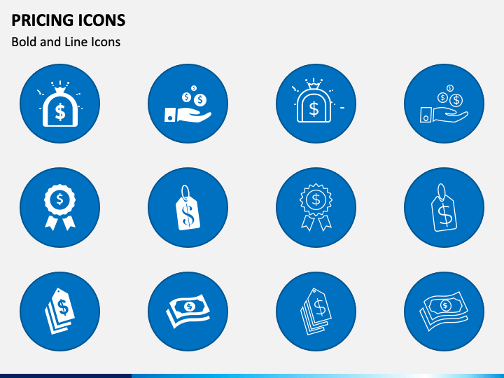 Pricing Icons PPT Slide 1