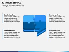 3D Puzzle Shapes PPT Slide 8