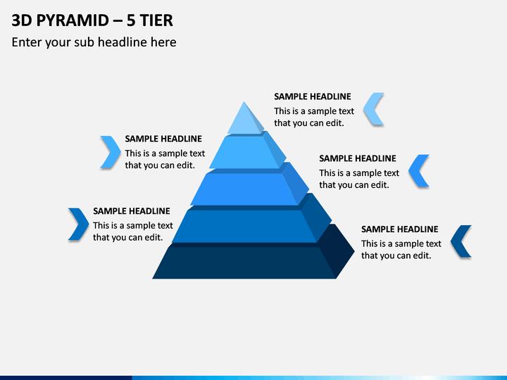 3d Pyramid – 5 Tier PPT Slide 1
