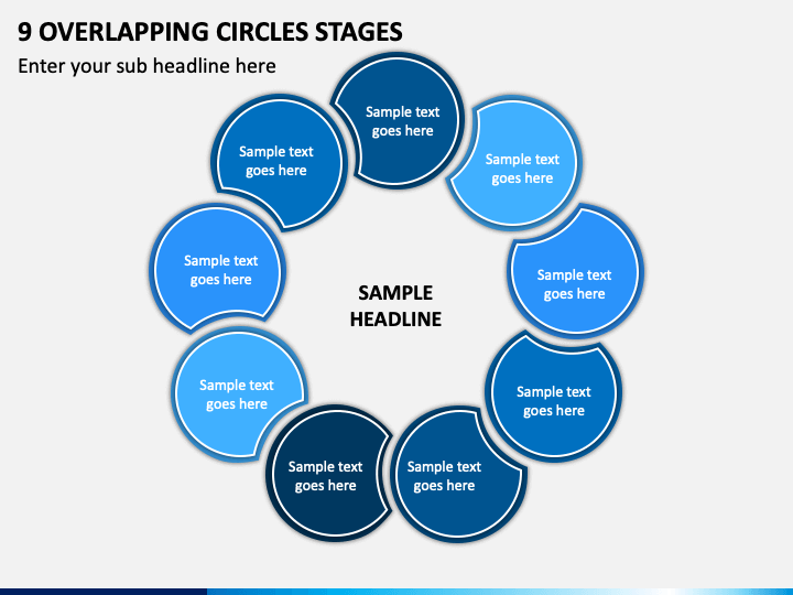 9 Overlapping Circles Stages - Free PPT Slide 1